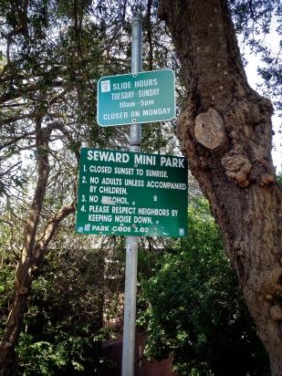 Seward slide sign